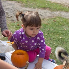 Little girl during Halloween activities